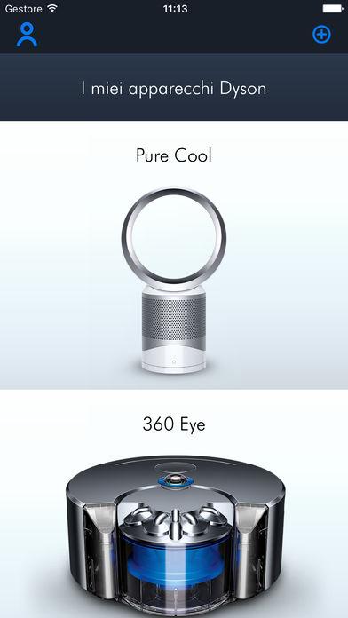Dyson 360 Eye l'app Dyson Link