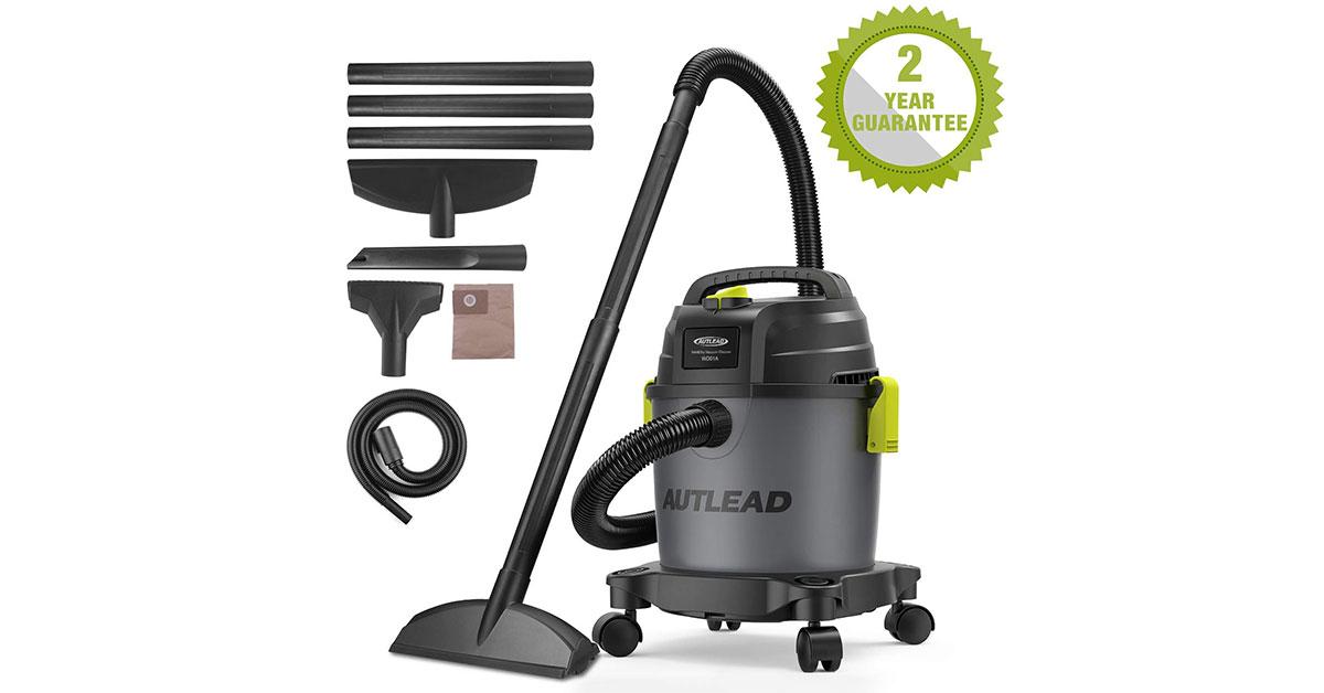 AUTLEAD Aspiratore Solidi-Liquidi, 1000W 10L